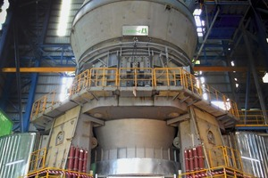 "<div class=""bildtext_en"">The Loesche mill with the new COPE drive in operation in the cement plant Mfamosing</div>"