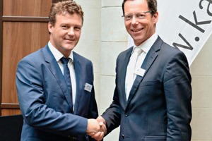 The new BVK President Dr. Kai Schaefer (left) with outgoing President Dr. Thomas Stumpf