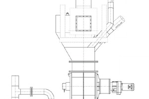 4 Planning detail for integration of the ceramic rotary feeder into the existing plant peripherals