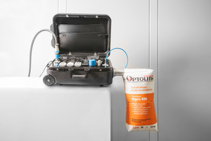 1 The Beumer bag tester enables users to exactly determine the venting capacity of any type of valve bag