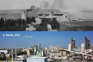 1 Visual comparison of emissions between the historic Nesher (Haifa) facility and the current Ramla facility