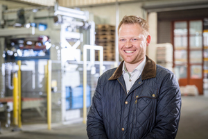 """Denis Sielemann, <br />Beumer Group: """"The biggest challenge for this project: We had to integrate the packaging line into the already <br />existing buildings."""""""