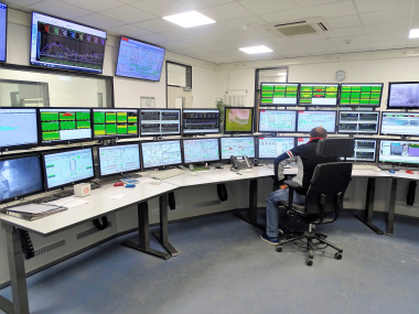 The new control room