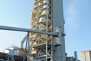 4 New calciner implemented in a separate steel structure before existing preheater tower