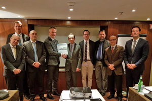 "<div class=""bildtext_en"">1 Representatives from Sea Invest/Seatech, Cimaf and Intercem after contract agreement in February 2018</div>"