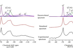 """<div class=""""bildtext_en"""">10 <sup>29</sup>Si MAS NMR spectra corresponding to hydrated pastes</div>"""