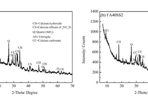 7 XRD patterns of CHVFA samples with 0% and 2% SS