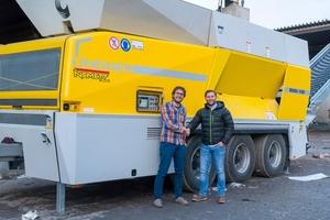 Mario Prammer, Nemetz Entsorgung und Transport AG and Clemens Jäger, Lindner-Recyclingtech (f.l.t.r.)<br />