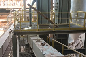 1 Installation and commissioning of the new bucket elevator took hardly more than four weeks