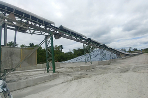 The 107-1 conveyor rises 6 m at its mid-section