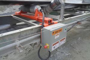 1 The Roll Gen System uses the movement of the belt to produce localized power