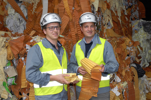 """<div class=""""bildtext_en"""">1 In future, Bertram Juritsch, Waste Management Director of w&amp;p Zement, and Florian Salzer, w&amp;p Zement Plant Manager in Wietersdorf, plan to save more CO<sub>2</sub> emissions by using paper and cardboard waste</div>"""