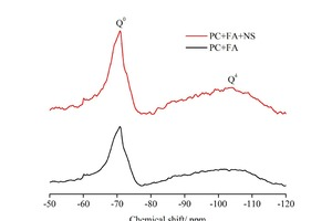 10 29Si MAS NMR  spectra of raw materials