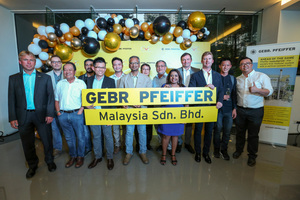 The Gebr. Pfeiffer Malaysia team around Managing Director Timothy Burden celebrated its official office opening on 08.08.2018