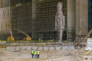 "<div class=""bildtext_en"">4 A workshop on ""archeological heritage"" will visit the Grand Egyptian Museum where the 11 m high, 83 t statue of Ramses II will be first monument that visitors will see in the museum's entrance hall</div>"
