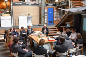 "<div class=""bildtext_en"">1 Three Roundtables were held in Boston, Zurich and Stuttgart to devise a clear agenda for the LafargeHolcim Forum. The 3rd LafargeHolcim Roundtable was hosted by Werner Sobek (pictured center) at the Institute for Lightweight Structures &amp; Conceptual Design, University of Stuttgart, Germany. Roundtable participants included Marilyne Andersen, Marc Angélil, Alejandro Aravena, Xuemei Bai, Philippe Block, Harry Gugger, Guillaume Habert, Dirk Hebel, Anna Heringer, Vivian Loftness, Karen Scrivener, and Werner Sobek</div>"