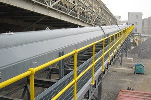 5 After the material mix has been processed, the pipe belt conveyors of the VecoBelt series convey it to the preheater and the main burner – transport is safe and <br />loss & emission-free