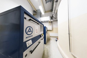 4 Using Aerzen screw compressors, stucco is pneumatically transported for fibreboard production at Knauf