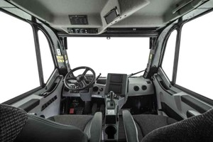 The cab of the new Cat 777G off-highway truck<br /><br />
