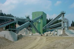 Industrial conveyor systems and turn-key plants for dry building materials<br />