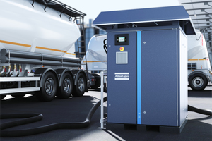 Atlas Copco's new ZE 3 low-pressure compressors are suitable for unloading bulk materials from truck tanks and for other conveyor applications<br />
