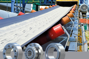 """<div class=""""bildtext_en"""">3 Frictional connections are mainly shaft-hub connections in drives of, for example, belt conveyors in the construction materials industry. In the picture, bottom from left: HSD shrink disk, FKH flange coupling, HYD hydraulic shrink disc</div>"""