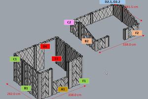 8 The AM concrete elements of the guardhouse