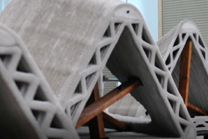 4 High-performance concrete wall printed using AM