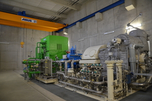 2 Some € 33 million was invested in the waste heat power generating system. The core component of the plant, a turbo-generator, converts unused waste heat into electricity