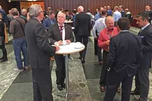 1 During the breaks, the attendees discussed the talks