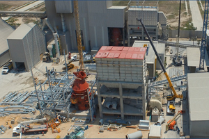 2 Construction of Production Line Two at Ultracem's cement grinding plant