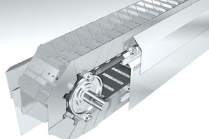 "<div class=""bildtext_en"">1 The belt apron conveyor ensures safe and efficient transportation of hot materials such as cement clinker</div>"