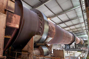 8 The rotary kiln can be fed with up to 700 tyres per hour
