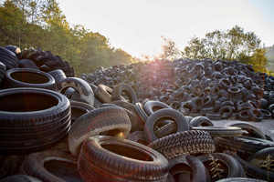 1 The plant recycles about ten million tyres per year. From the stockpile ...