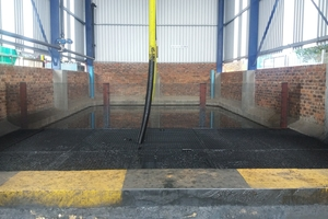 1 Hydrocarbon waste storage at the blending platform facility