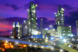 Bulacan cement plant in the Philippines