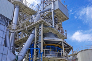 """<div class=""""bildtext_en"""">The 100 t/d single shaft Maerz HPS kiln in the Kuala Ketil plant produces lime at a burning temperature of 1750°C</div>"""