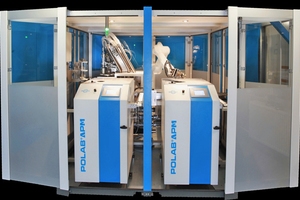"""<div class=""""bildtext_en"""">The polab laboratory automation system from thyssenkrupp</div>"""