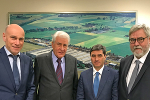 "<irspacing style=""letter-spacing: -0.01em;"">From left: Reiner Furthmann (MD Technology), Franz-W. Aumund (President), Dr. Pietro de Michieli (MD Sales), and Dr. Volker Brandenburg (MD Finance)</irspacing>"