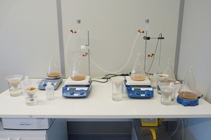 1 The Chapelle test set-up in the laboratory