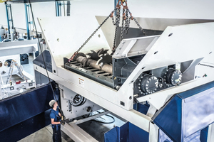 With the new FX fast exchange system of the Atlas 5500 the entire cutting system can be completely exchanged in under an hour