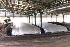 5 Membrane covered drying bays in operation