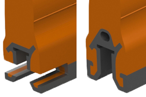 "<div class=""bildtext_en"">1 The new QC1+ holds the urethane blade in place without milling slots for pins</div>"