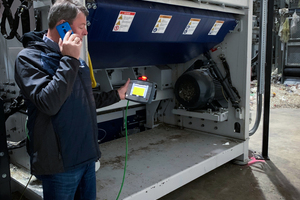 "<div class=""bildtext_en"">With the assistance of the Lindner Service Centre via video analysis and online support, the shredder Micromat 2500 was installed on-site at Hündgen Entsorgungs GmbH &amp; Co. KG</div>"
