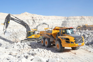 12 Gypsum rock extraction with modern equipment