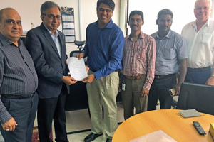 """<div class=""""bildtext_en"""">From left to right: Dr. Ravi Sood, Director Operations-Nigeria, Arvind Pathak, Group Chief Operating Officer, Debesh Banerjee, Area Sales Manager FLS, Mahesh Kumar, Asst. General Manager, Erudhayadhas Rajesh, General Manager FLS, Flemming Strand, Managing Director FLS Nigeria</div>"""