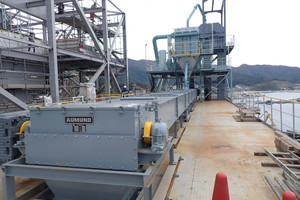 "<div class=""bildtext_en"">1 Aumund Drag Chain Conveyor type Louise TKF for handling alternative fuels in Taiheiyo Cement's Ofunato Power Plant in Iwate Prefecture, Japan</div>"