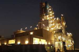 9 Kilns in operation by night
