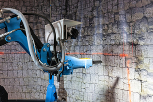 2 Laser scans controlling the lining demolition area