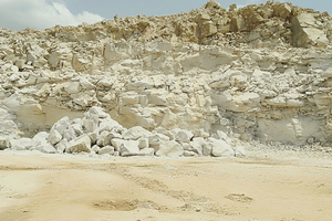 1 Limestone quarry for cement manufacturing